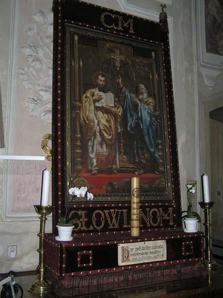 Obraz Jana Matejki w bazylice velehradzkiej na Morawach – SŁOWIANOM-Dar narodu polskiego bazylice velehradzkiej.