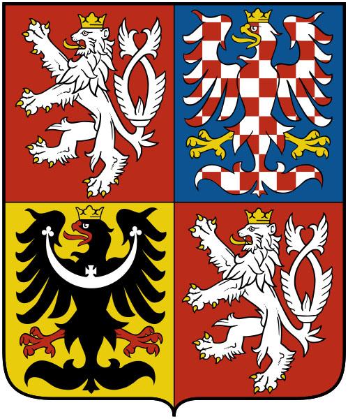 Godło Republiki Czeskiej z elementami Czech, Moraw i Śląska
