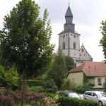 Obwarowany kościól w Kurdějovie