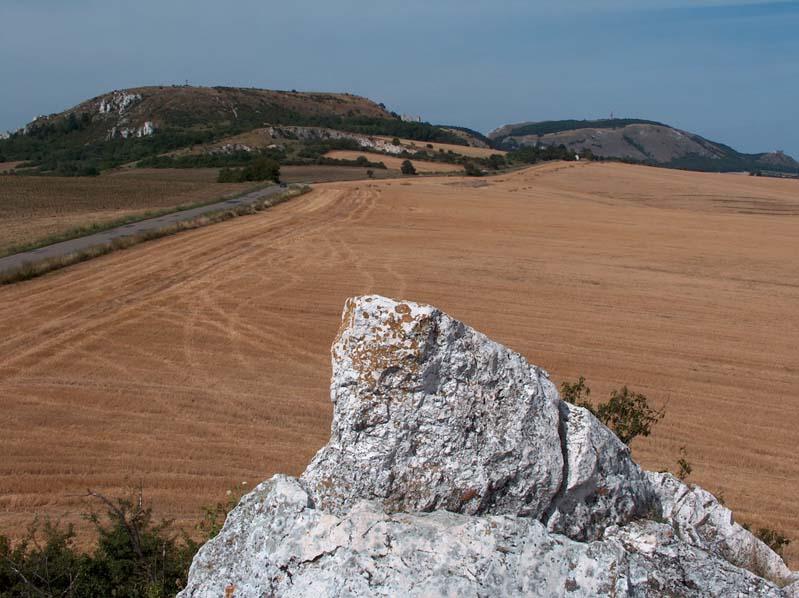 Wzgórza Palavskie od Kociej Skaly