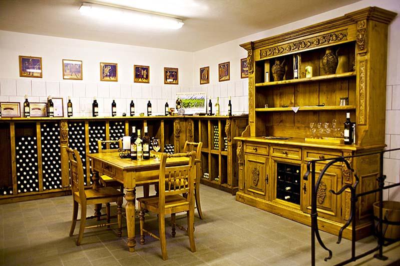 Pomieszczenie degustacyjne - Winiarstwo Šebesta - Březí